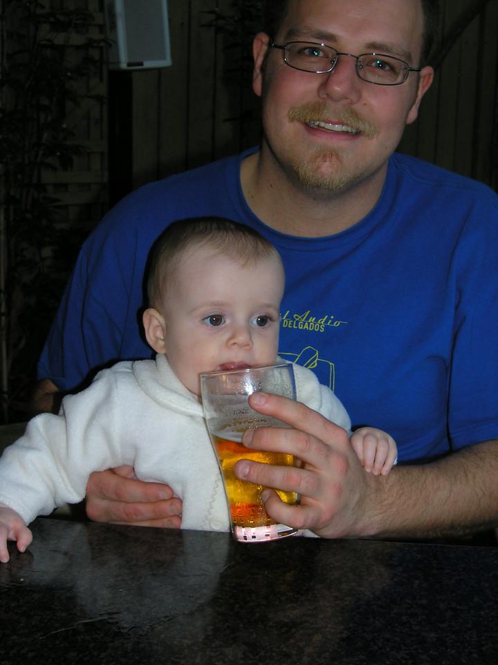 Simon and Lila. She likes beer.