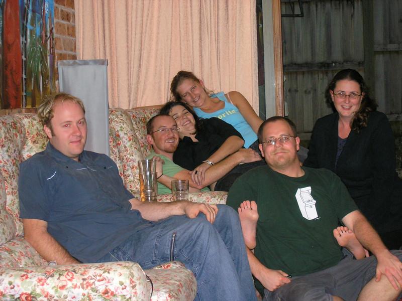 Mikey, Matt, Maz, Amberley, Simon, Vicky