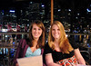 Lauren and Danielle out for dinner, Darling Harbor