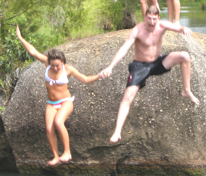 Chris and Rachel take the plunge