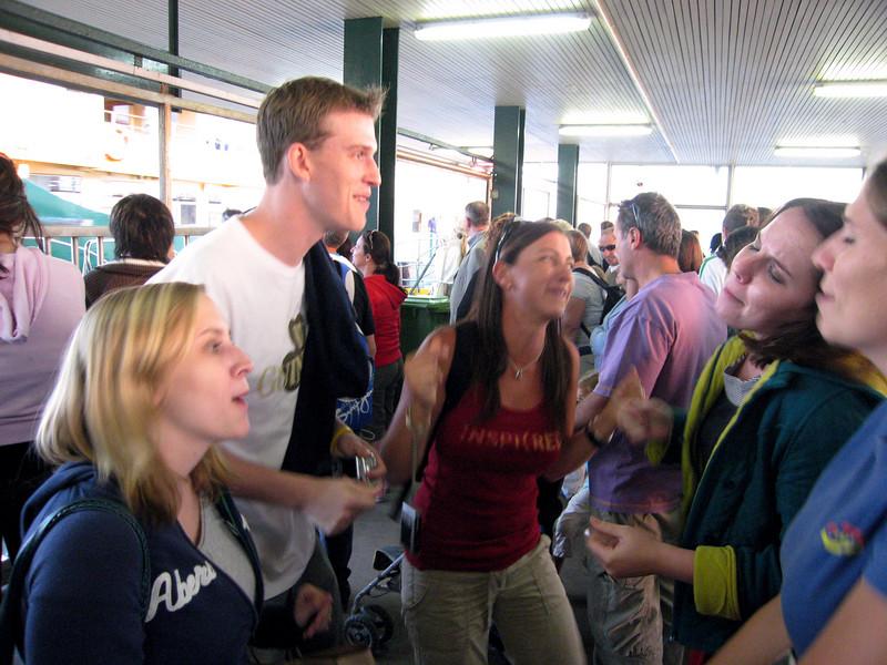 Singing in harmony, Ferry pickup, Taronga Zoo