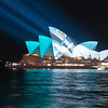 The Sydney Opera House all lit up, Vivid Festival