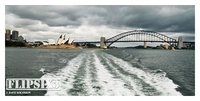 Sydney Harbour Bridge and Opera House - the sky gives you a clue as to the conditions on the day, which made for difficult shooting conditions. (A healthy dose of sea-sickness didn't help either!)