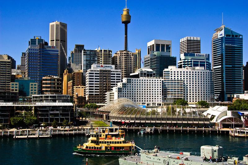 Sydney CBD from Darling Harbour Sydney New South Wales Australia
