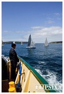 The afternoon commute, heading home from Sydney to Manly