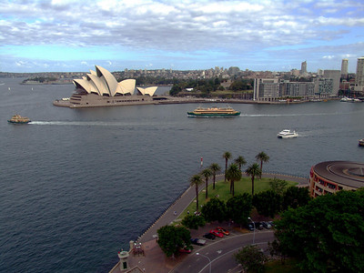 2006-02-23 View of the Sydney Opera House from the Harbour Bridge.
