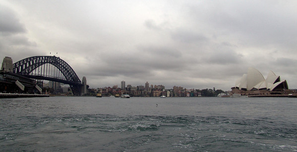 Panoramic view of the Sydney Harbour