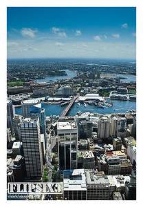 Darling Harbour, from the top of the Sydney Tower