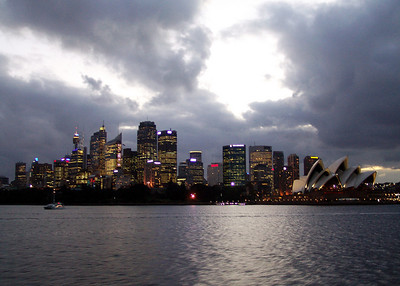 The Sydney Skyline from the Harbour