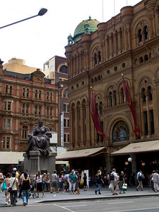 Front of the Queen Victoria shopping mall in Sydney.