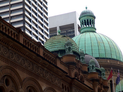 Top of the Queen Victoria Building in Sydney.