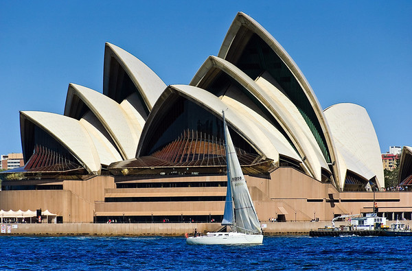 Sailing in front of the Sydney Opera House Sydney Harbour New South Wales Australia