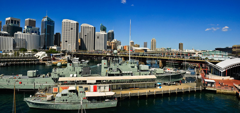 Sydney CBD from Darling Harbour Sydney New South Wales Australia