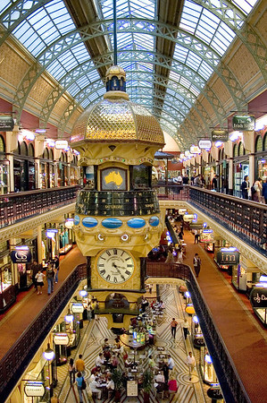 Australian Clock Victoria Gallery Sydney - NSW Australia - 1 Oct 2005