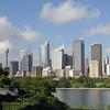 "Sydney skyline, including ""chicken basket on a stick"" on left - Sydney Tower.<br /> Dec. 28, 2007"