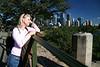 Iz admiring the Sydney skyline.