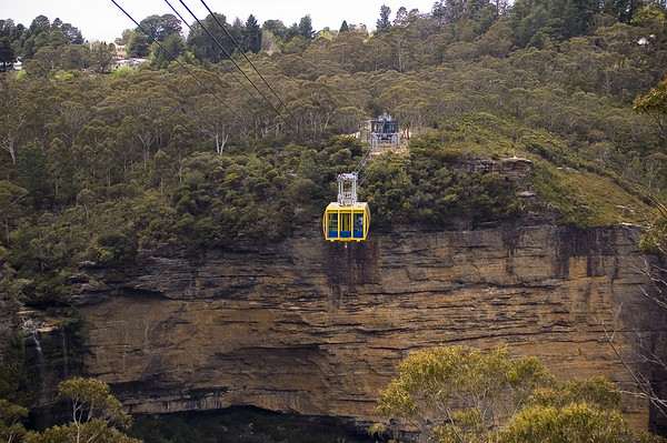 Sky car Scenic World Katoomba The Blue Mountains - NSW Australia - 6 oct 2005