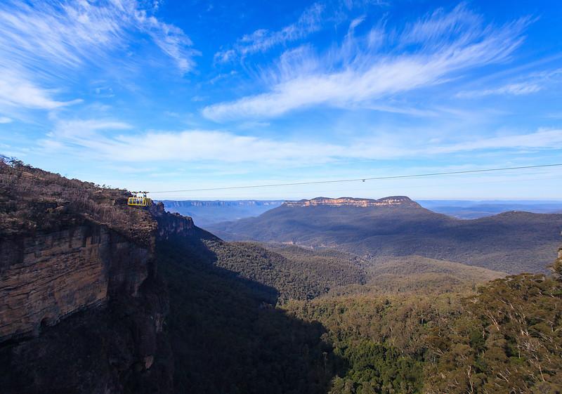 View over Katoomba Falls Gorge, Blue Mountains Australia