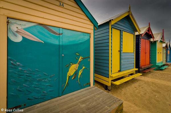 Brighton Bathing Boxes, Melbourne, Australia, October 2007