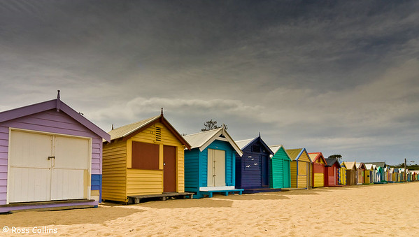 Brighton Bathing Boxes, Melbourne, Australia, 28 October 2007
