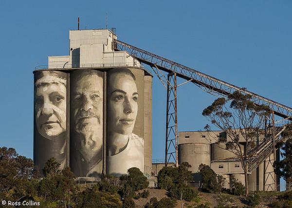 Geelong Cement Silos Art 2018