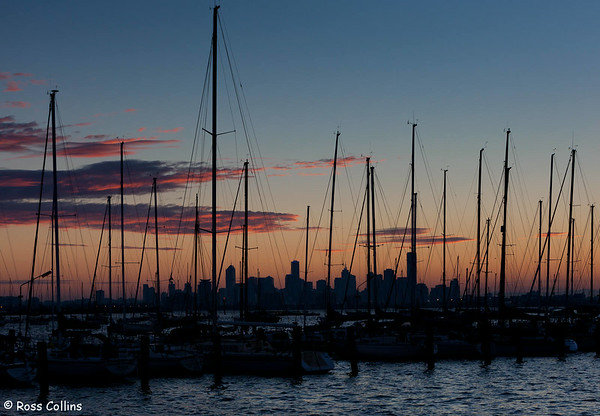 Melbourne Skyline from the Ferguson Pier, Williamstown, May 2011