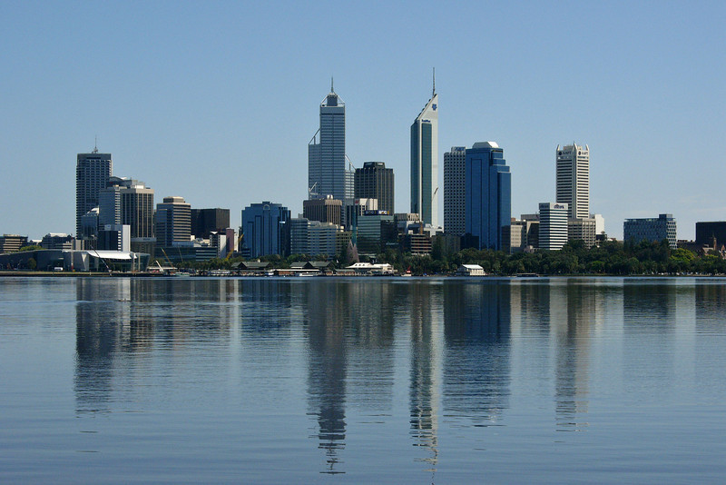Perth skyline, 2005