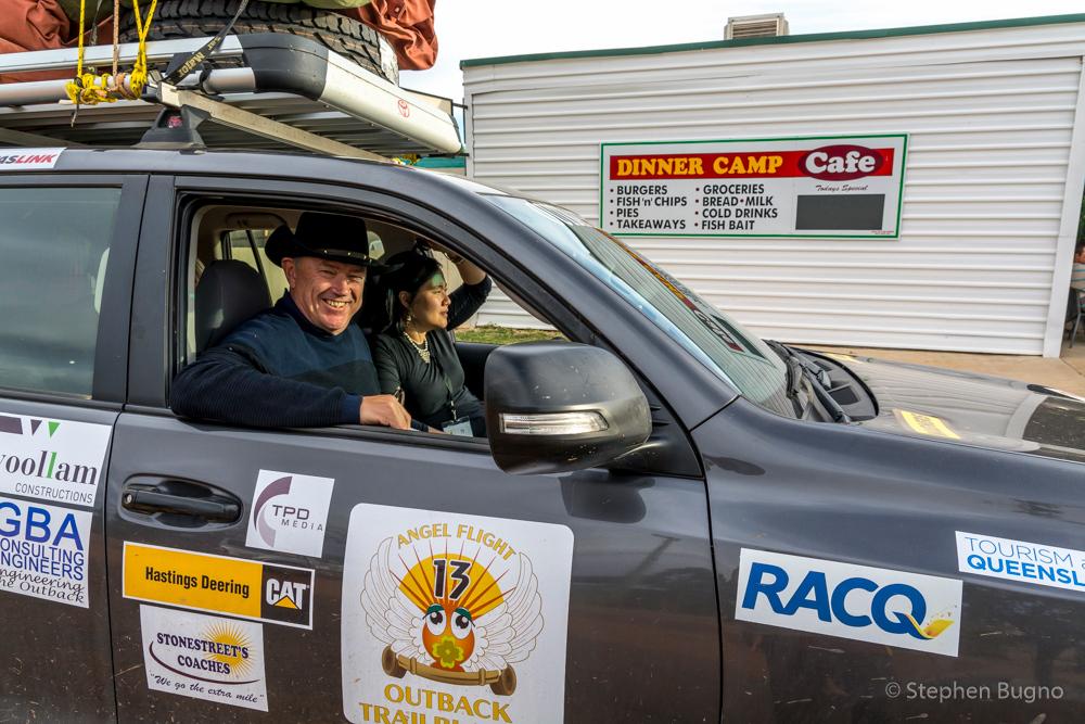 our car for the Angel Flight Outback Trailblazer
