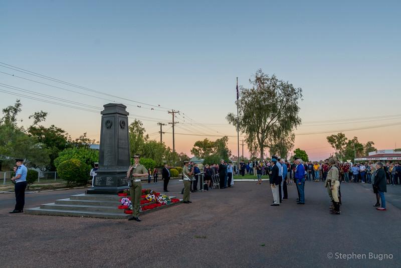 Winton, Queensland ANZAC dawn memorial service.