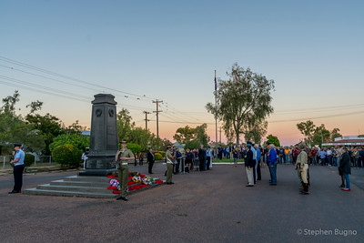 Winton, Queensland ANZAC dawn memorial service.