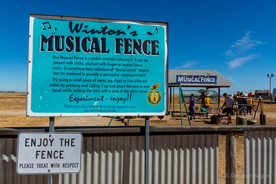 at Winon's Musical Fence.