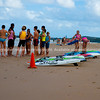 Nippers in life saver training, at Park Beach, Coffs Harbour, Australia.<br /> Model released; no, for editorial & personal use.