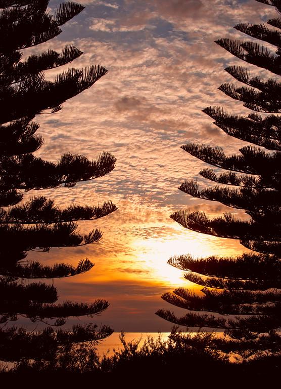 Seacliff sunset.