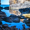 The Grotto pools and natural arch  of geological formation