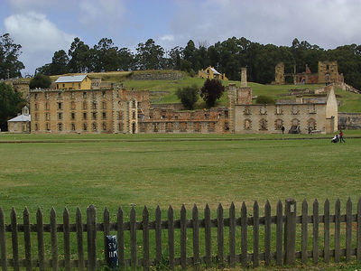 Port Arthur Historic Site in Tasmania.  Penetentiary ruins