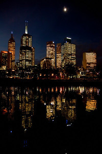 Melbourne Reflection on Yarra River