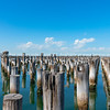 Princes Pier in Melbourne Harbour, Australia.
