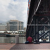 Sydney's Darling Harbour. Sitting on the dock of the bay!