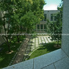 Parliament House, Canberra, courtyrad through the window.