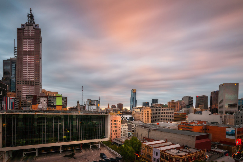 Sunrise, Melbourne Australia. 376 second exposure.