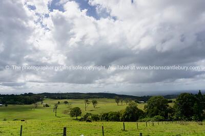 Australian rural landscape under dark clouds