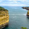 Sheer limestone cliffs drop to sea along coast of Great Ocean Road
