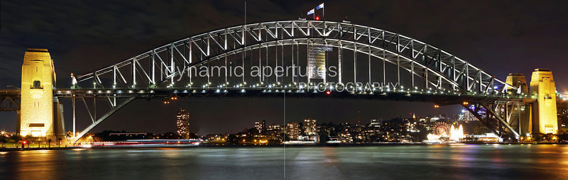 Panoramic view of the Sydney Harbor Bridge