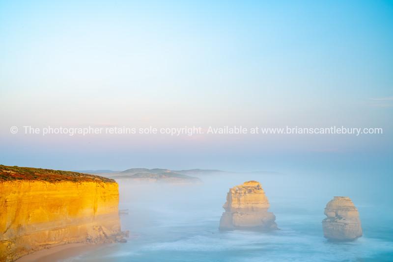 Twelve Apostles collection of limestone stacks  along Great Ocean Road.