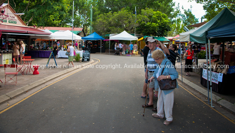 Brian & Brenda at the Eumundi Markets, Eumundi, Queensland, Australia.