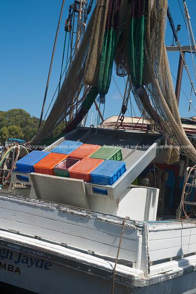 Ashleigh Jayde, prawn fishing boat at Yamba. Australia.