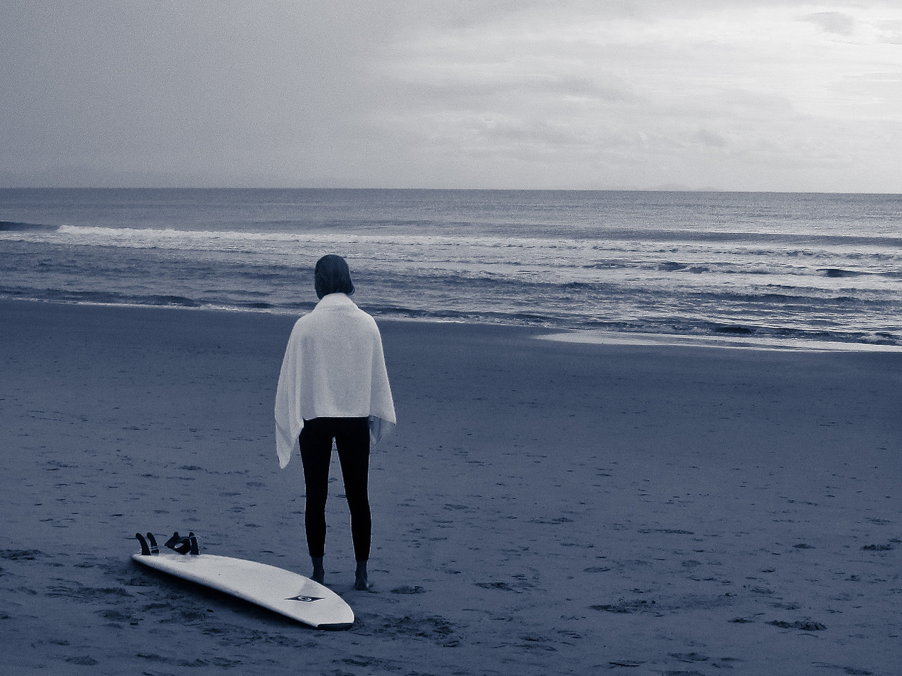 'Me and my playground' -  A surfer staring at the ocean after a surf session at Byron Bay, Australia.