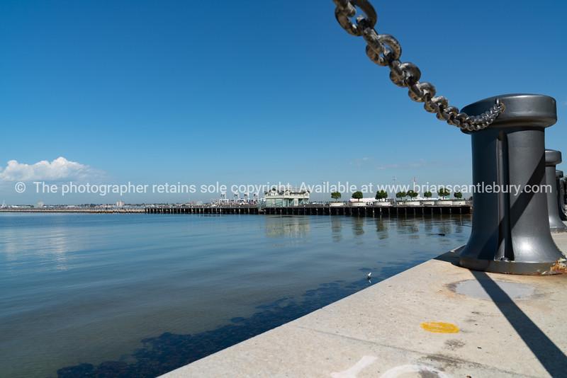 Princes Pier in Melbourne Harbour, Australia.