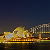 Sydney Opera House and Harbor Bridge at Night