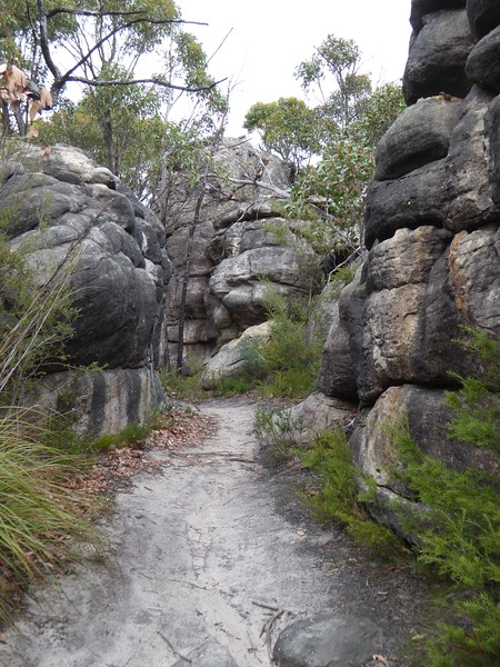Path to Sundial Carpark from the Pinnacle, Grampians
